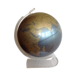 Mid Century Globe on Lucite Base