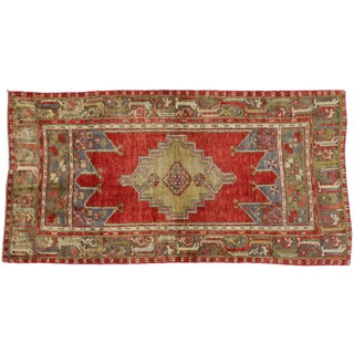 Vintage Turkish Oushak Rug With Traditional Modern Style - 3′11″ × 7′7″