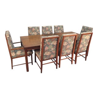 Founders Burled Olivewood Dining Table & Chairs - Set of 9