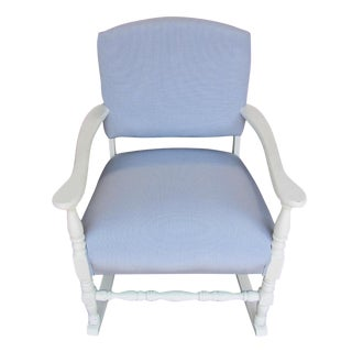 Refurbished Blue Gingham Rocker