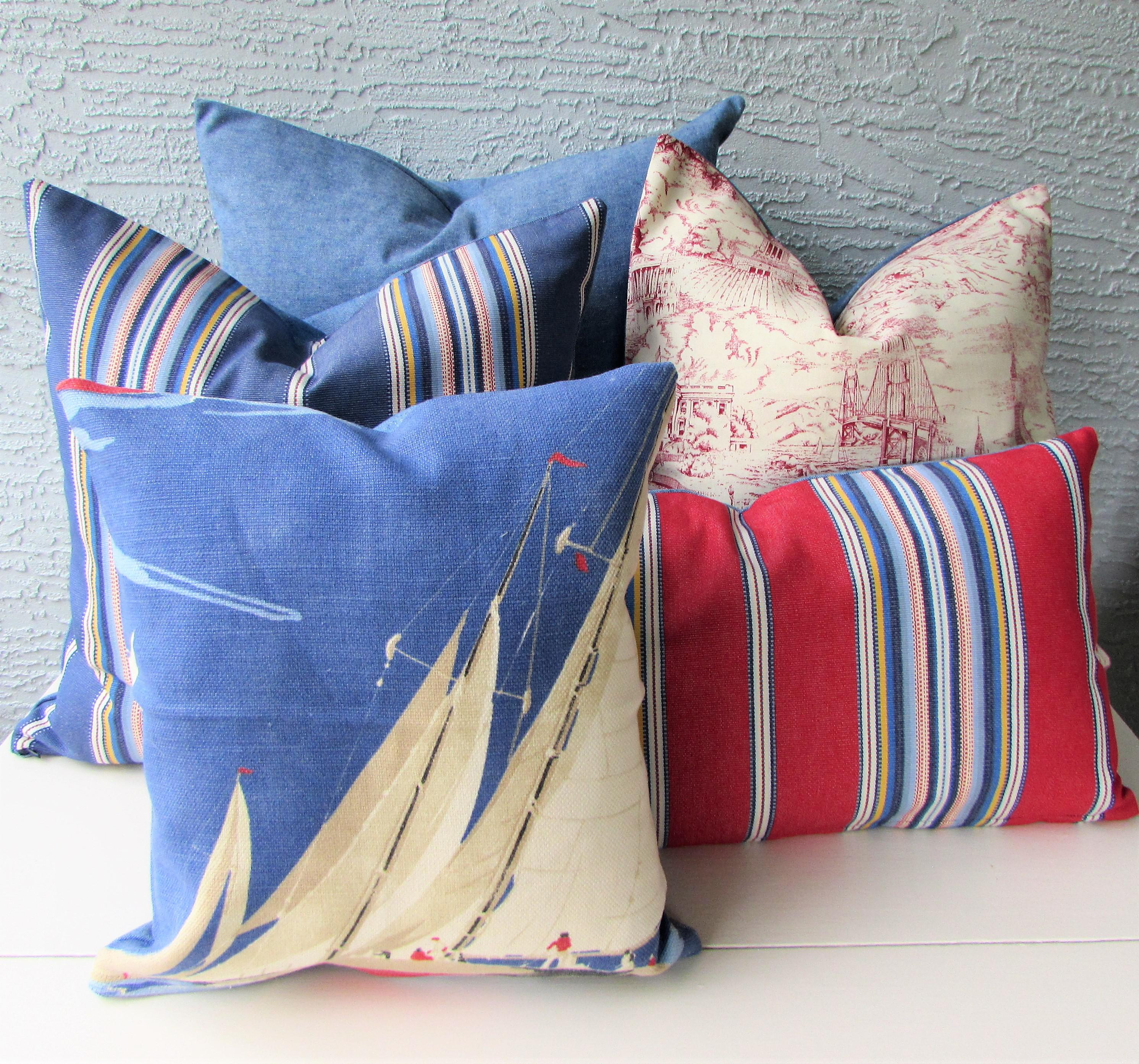 Red White Blue Pillow Cover Collection Set of 5 Chairish