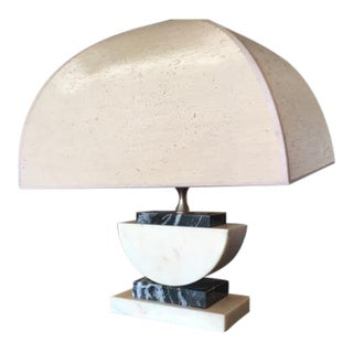 Ultra Glam Bi-Colored Marble Table Lamp