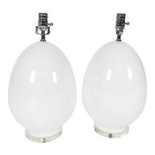 Large Glass Egg Lamps by Jamie Young - A Pair