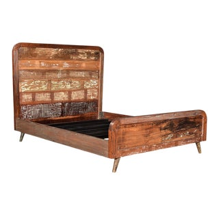 Reclaimed Wood Retro Eastern King Bed Frame