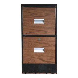 Metal Wood Grain File Cabinet