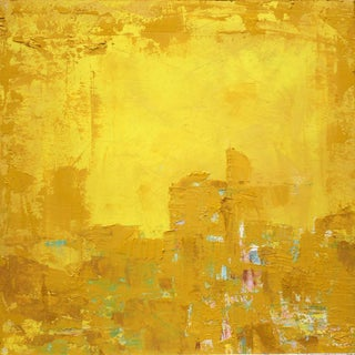 Paul Ashby Gold & Yellow Abstract Landscape Painting