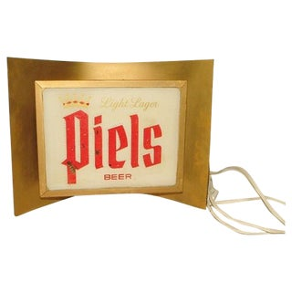"Mid-Century ""Piels"" Beer Sign with Modern Lighting Circa 1950's"