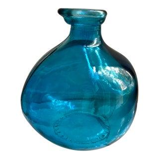 Blue Glass Balloon Vase
