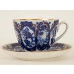 Image of Lomonosov Cobalt & Gold Porcelain Cup & Saucer