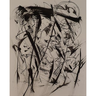 """""""Texas a Stormy Ink """"Original Abstract Drawing by Erik Sulander"""