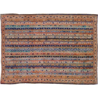 "Vintage Persian Afshar Rug - 3'6"" X 4'9"""