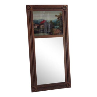 Antique Mirror with Reverse Painting