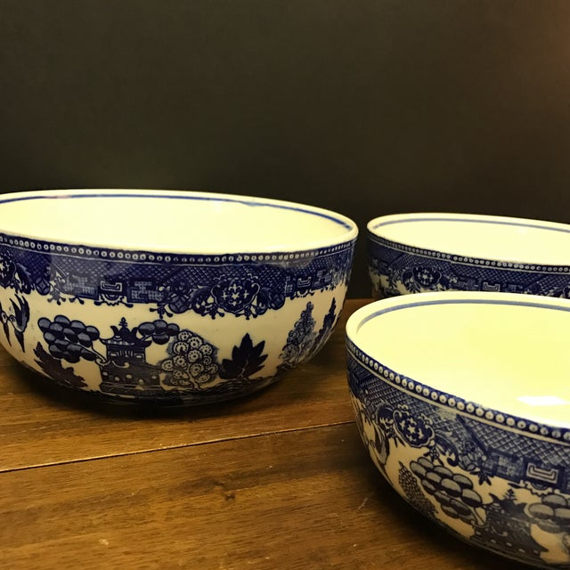 Blue Willow Nesting Bowls - Set of 4 - Image 3 of 6