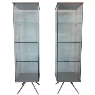 Glass Display Cabinets - A Pair