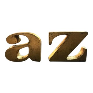Curtis Jere A-Z Bookends - A Pair