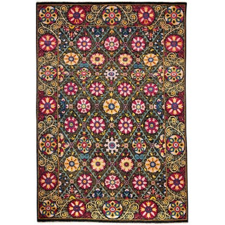 """Suzani, Hand Knotted Area Rug - 6' X 9'5"""""""