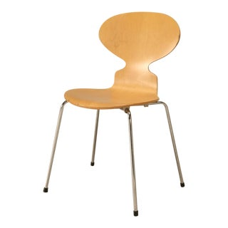 Set of 4 Fritz Hansen Birchwood Chairs by Arne Jacobsen