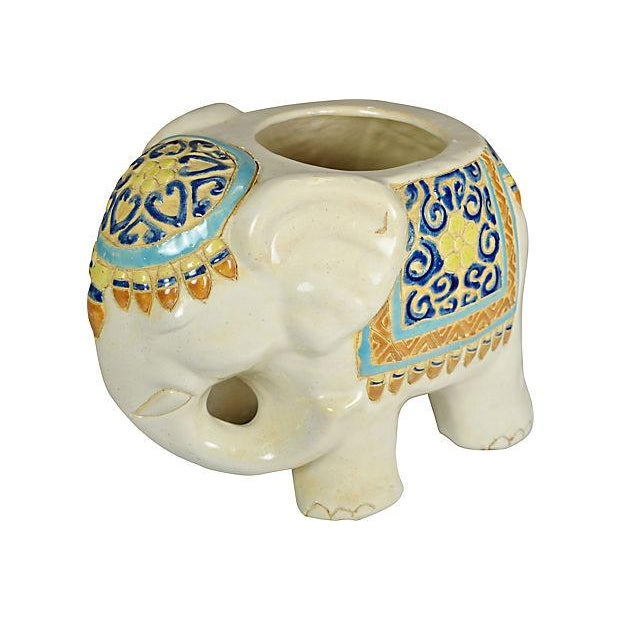 Image of Ceramic Elephant Planter