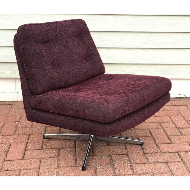 mid century modern swivel chair chairish. Black Bedroom Furniture Sets. Home Design Ideas