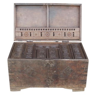 19th Century Wood Dowry Trunk