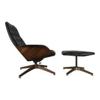 George Mulhauser Plycraft Eames Mr. Lounge Chair & Ottoman