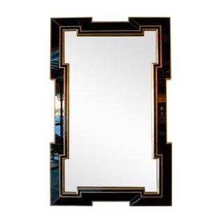 Paul Marra Design Greek Key Mirror with Black Mirror Border