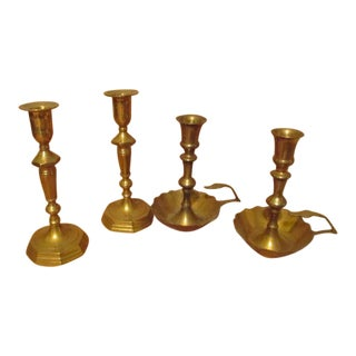 Brass Candle Holdlers - Set of 4