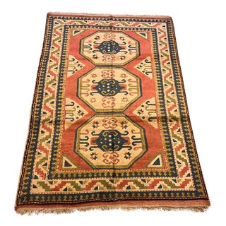 Vintage Kars Turkish Semi-Antique Rug - 4'3'' X 6'6''