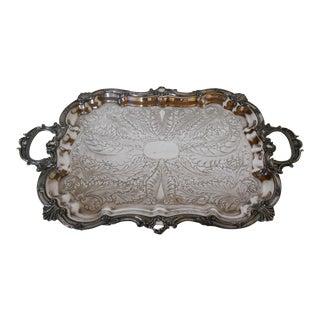 Mid-Century Modern Silverplate Tray