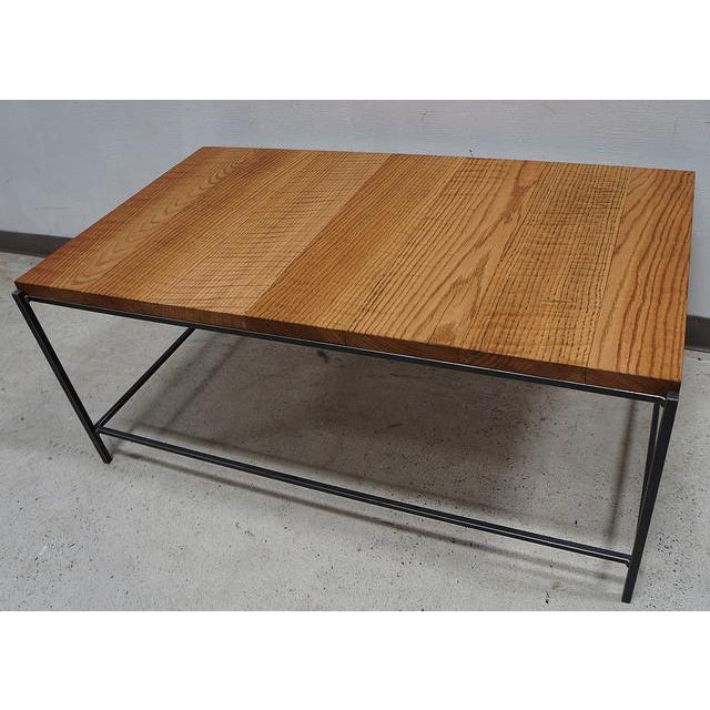 Industrial Modern Reclaimed Tiger Oak Iron Coffee Table Chairish
