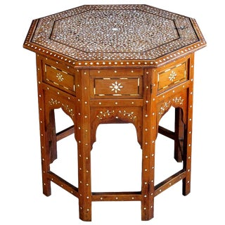 Finely Inlaid Anglo-Indian Octagonal Traveling Table