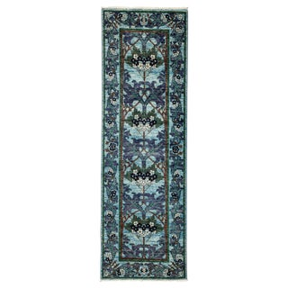 "Arts & Crafts Hand Knotted Runner - 2'7"" X 7'10"""