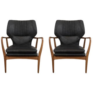 Mid-Century Modern Style Leisure Armchairs - a Pair