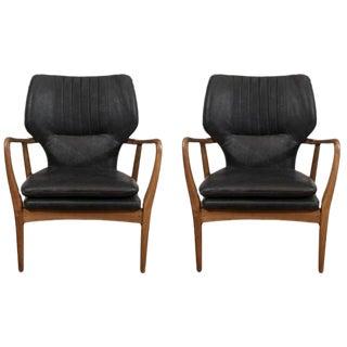 Mid-Century Modern Style Leisure Armchairs - a Pair