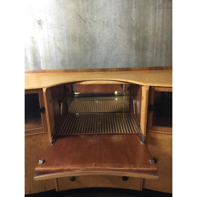 Art Deco Style Burlwood Maple Fall-Front Bar - Image 4 of 7