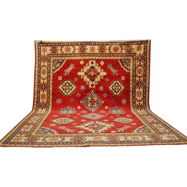 Pakistani Kazak Rug - 7′5″ × 9′ - Image 1 of 6