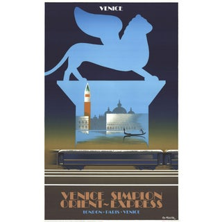 Pierre Fix Masseau Orient Express II-1992 Lithograph