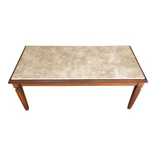 Walnut Coffee Table With Marble Top
