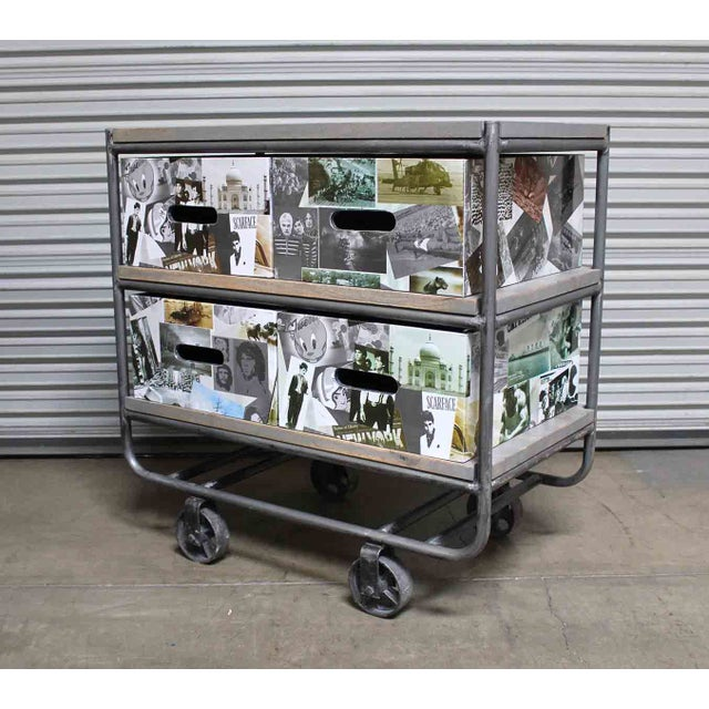 Photo Collage 2-Tier IronTrolley with Storage - Image 2 of 6