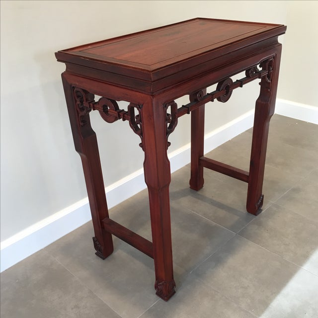 Image of Carved Chinese Rosewood Altar Table