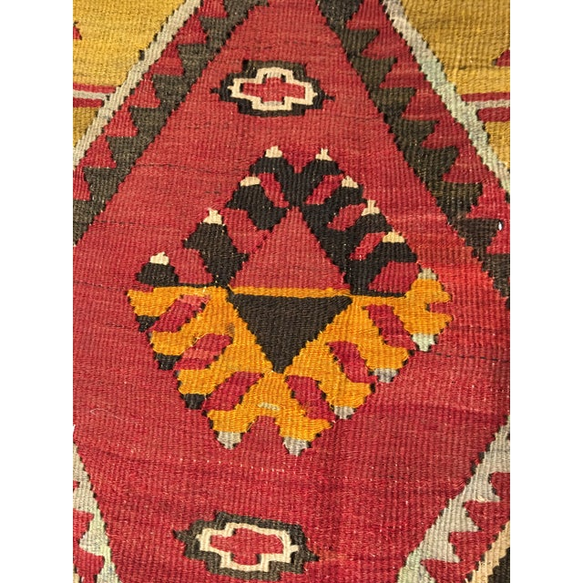 "Bellwether Rugs Vintage Turkish Kilim Rug - 8'8"" x 11'2"" - Image 7 of 9"