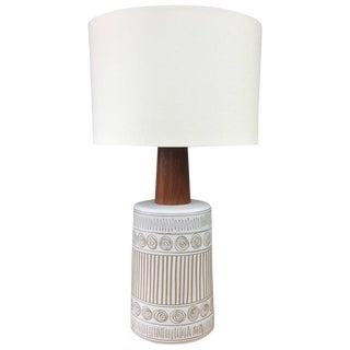 Gordon & Jane Martz for Marshall Studios Ceramic & Teak Table Lamp