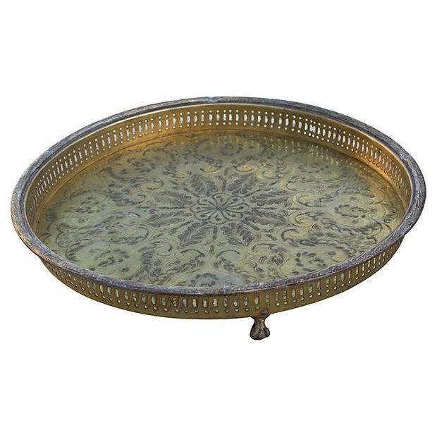 Handmade Moroccan Brass Tray Chairish