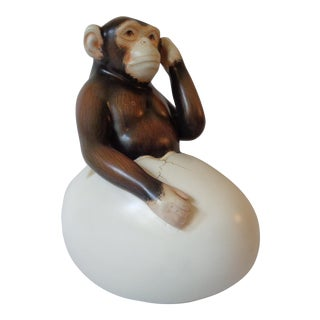Sergio Bustamante Hatching Chimp Figurine