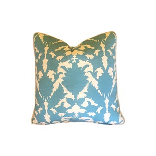 Thomas Paul Silhouette Turquoise Pillow