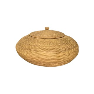 Vintage Cobra Basket With Lid