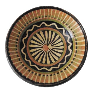 French Pottery Geometrical Pattern Platter