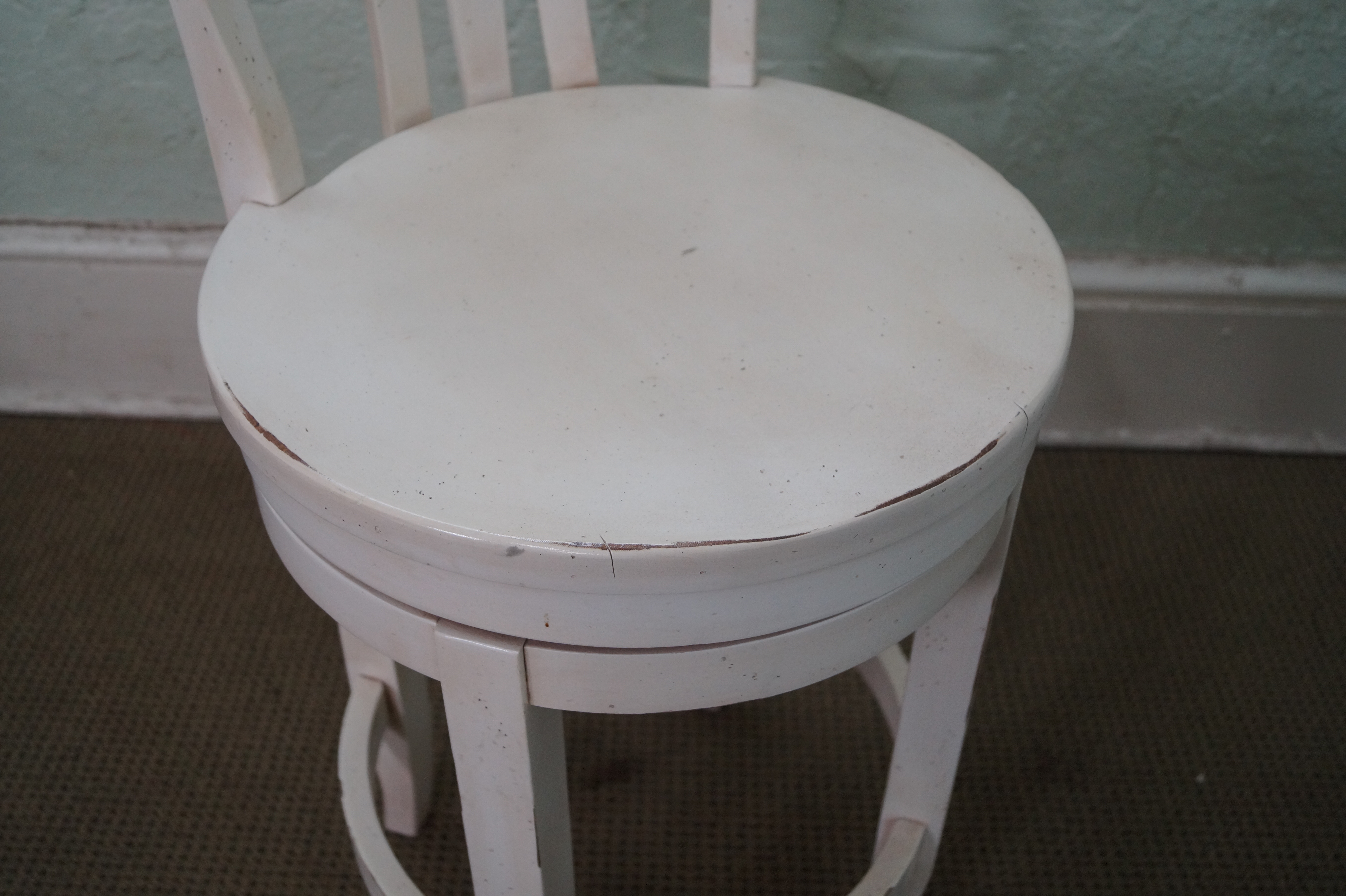 Quality Distressed Painted Counter Bar Stools 2 Chairish