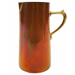 Brass & Copper Mid-Century Italian Pitcher