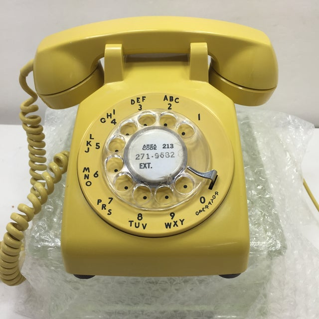 Bright Yellow Rotary Dial Telephone - Image 2 of 11